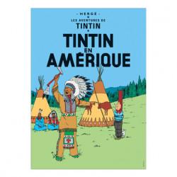 Poster - Tintin en Amérique