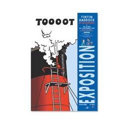 Affiche Tintin, Haddock et...