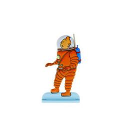 Tintin exploring the Moon