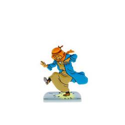 Tintin marche sur un pétard