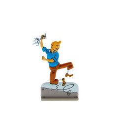 Tintin saute de joie