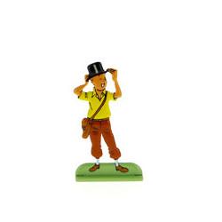 Tintin porte un chapeau