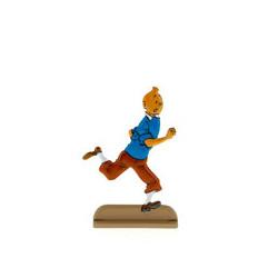 Tintin court avec joie