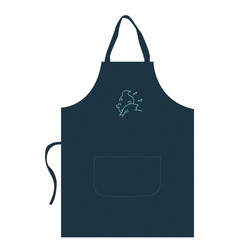 Apron – turquoise embroidery