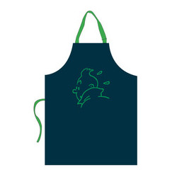 Apron – green embroidery