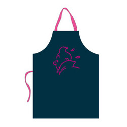 Apron – pink embroidery