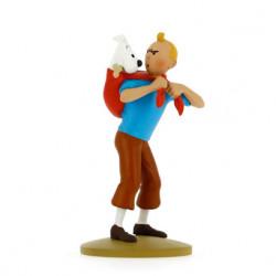 Tintin fetches Snowy