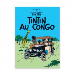 Postcard - Tintin in the Congo