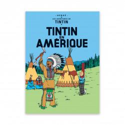 Postcard - Tintin in America