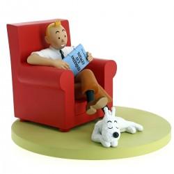 Tintin fauteuil rouge