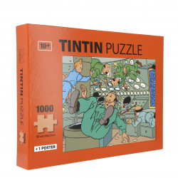 Puzzle: Tintin in space