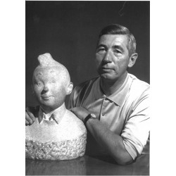 Hergé, 1960 - portrait,...