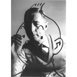 Hergé, 1958 - portrait,...