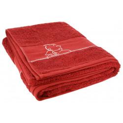 Red Bath Towel - Tintin