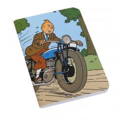 Carnet de note - Tintin à Moto
