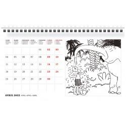 Tintin 2022 Desktop Calendar